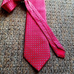 HERMES Bright Red Links Necktie Tie NWOT